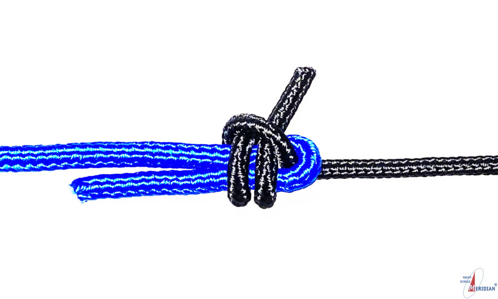 Der doppelter Schotstek dient zum Verbinden zweier ungleich starker Tampen.