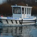 Die MERIDIAN IV für die praktische Ausbildung zum Sportbootführerschein See in Hamburg