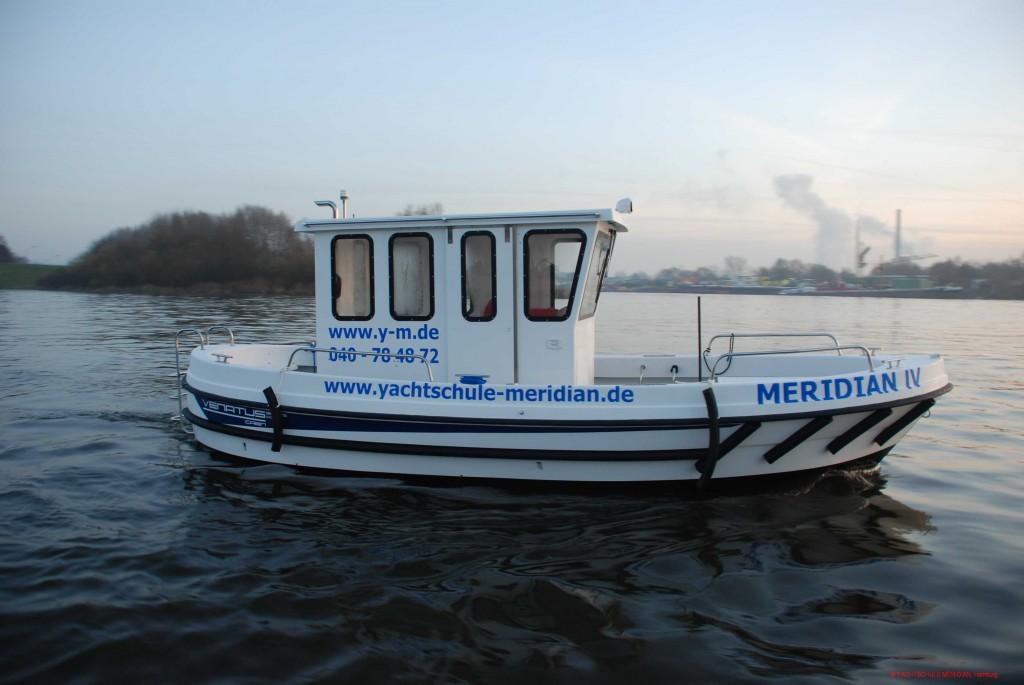 MERIDIAN IV, Das Schulschiff für die Sportbootführerscheinausbildung in Hamburg.