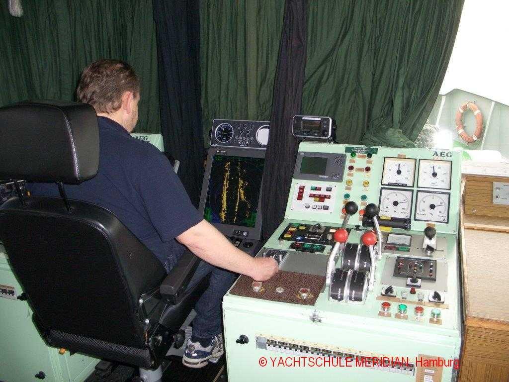 Fahrstand der praktischen Radarprüfung