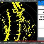 Radarbild einer Raymarine E 120 Radaranlage