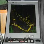 Die Radaranlage auf dem Eisbrecher Büffel