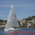 praktische Segelausbildung auf der Elbe zum Segelschein auf der Segelyacht MERIDIAN in Hamburg