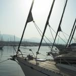 segelyachten im Mittelmeerhafen
