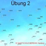 Wetterkunde - Wetterkarte zum Üben mit Isobarenangaben